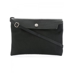 Cabas pouch mini bag BLACK/BLACK Leather 100% N59