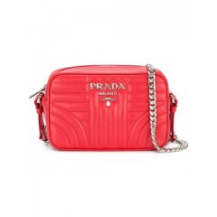 Prada bevelled leather cross-body bag F0011 ROSSO Leather 100% 1BH084VCOI2D91